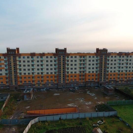 ЖК Янинский Каскад, ход строительства, стройка, комплекс октябрь 2017